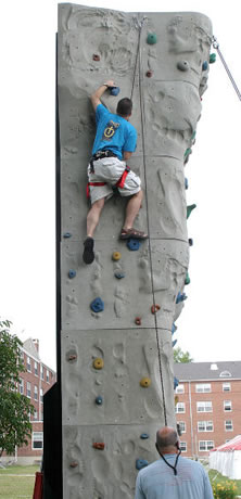 healthy wall climbing exercise
